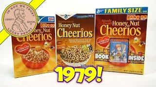 Honey Nut Cheerios 1979 Retro & New Breakfast Cereal Boxes