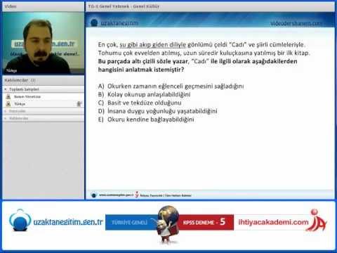 İhtiyaç TG 5 Deneme Sınavı Soru Çözüm Videosu Türkçe Soru 1