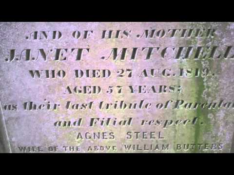 Jean Butters Gravestone Newtyle Angus Scotland