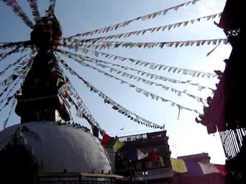 Boudhanath stupa by Kathmandu, Nepal