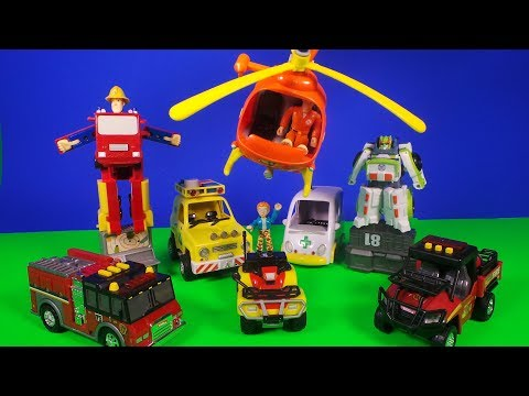 Feuerwehrmann Fireman Sam What's in his Packed Lunch Box Full Episode of Surprise toy openings