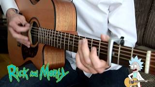 Rick and Morty opening theme - Acoustic fingerstyle guitar version