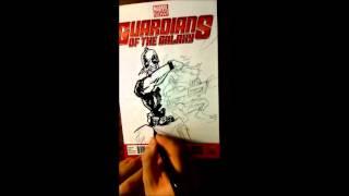 Drawing a Deadpool Vs. Rocket Raccoon sketch cover