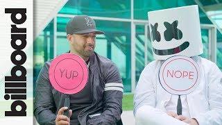 Marshmello & Moe Shalizi Play 'Never Have I Ever' | Billboard