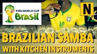 Samba medley with kitchen instruments - Aquarela do Brazil / Mas Que Nada