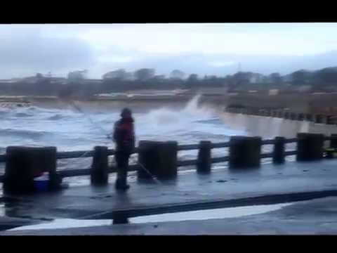 Arbroath – Stormy Weather at the Seafront