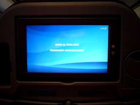 LAN Airlines A340 Captain's announcement