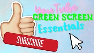 YouTube Green Screen Essentials! (Subscribe Button, Like button and more!)