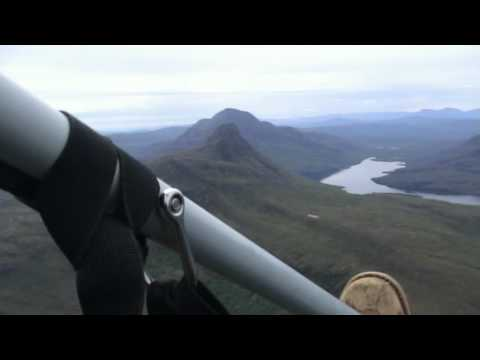Flying over Stac Pollaidh and Suilven