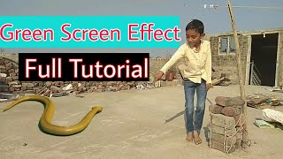 How to make green screen effect || Boy fearing from Snake