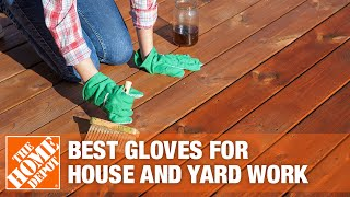 A video details how to choose work gloves.