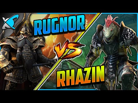 RUGNOR vs RHAZIN... Round #1| Which Is Better Against The Clan Boss !? | RAID: Shadow Legends