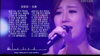 장윤정 - 초혼 (가사포함 토니박스)