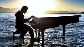 Dubstep Piano on the lake - Radioactive - With William Joseph - 4K
