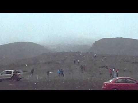 Nuestra llegada al parqueadero Cotopaxi 2012