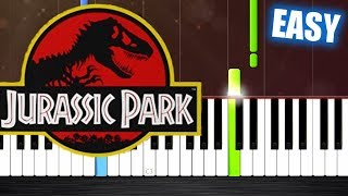 Jurassic Park Theme - EASY Piano Tutorial by PlutaX