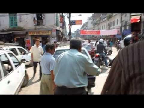 Rickshaw Ride to Durbar Square, Kathmandu, Nepal
