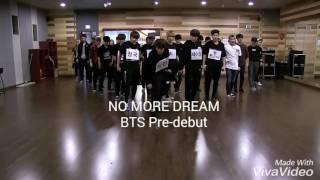 BTS-No More Dream (Pre-Dedut Dance Practice)