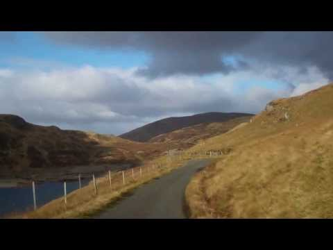 Drive Narrow Road Scottish Highlands Of Scotland