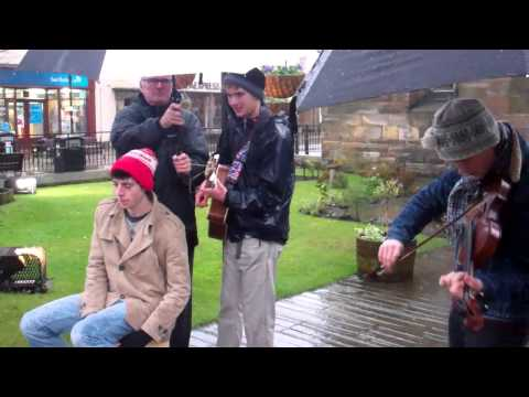 Traditional Scottish Music Christmas Street Concert St Andrews Fife Scotland