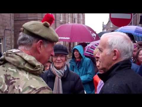 Prince Charles Meeting The Public Homecoming Parade Forfar Scotland April 19th