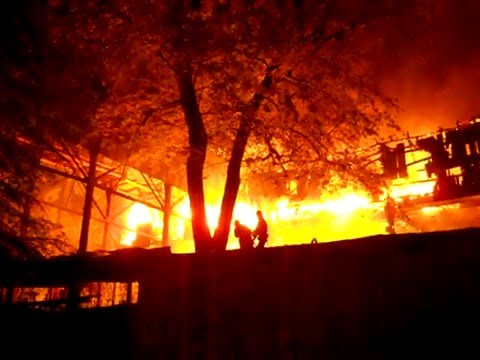 Building Fire Kiev Ukraine 19 June 2011 10:07pm