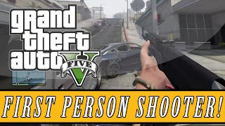 GTA 5: Mod Showcase | First Person Shooter Mod - 5 Star Wanted Level FPS Shootout! (GTA 5 FPS)