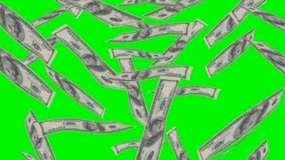dollar rain - green screen effect