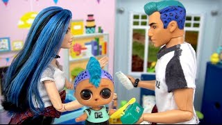 Barbie Doll LOL Punk Boi Family Morning Routine In The Playground & Birthday Party