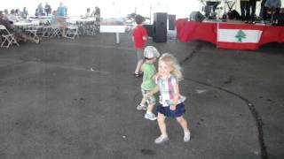 Two year olds dance the Dabke at Lebanese Festival