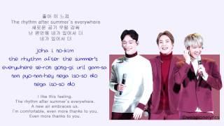 EXO-CBX (첸백시) - Rhythm After Summer [Hangul, English and EASY Lyrics]