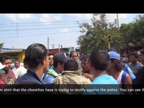 Nicaraguan Police Assault