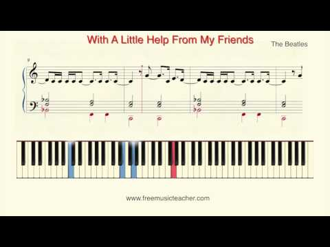 Comment jouer With a Little Help from My Friends des Beatles au piano
