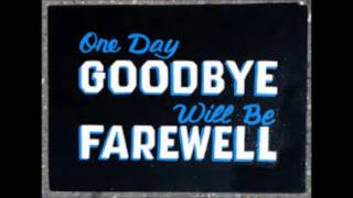 Morrissey - One Day Goodbye Will Be Farewell. Demo Version
