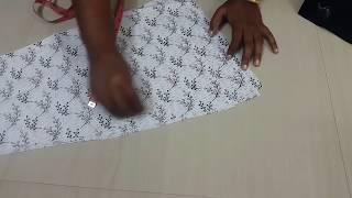 சுடிதார் கட்டிங் செய்வது எப்படி...??? Chudithar Cutting In Tamil ( Part-2) width=