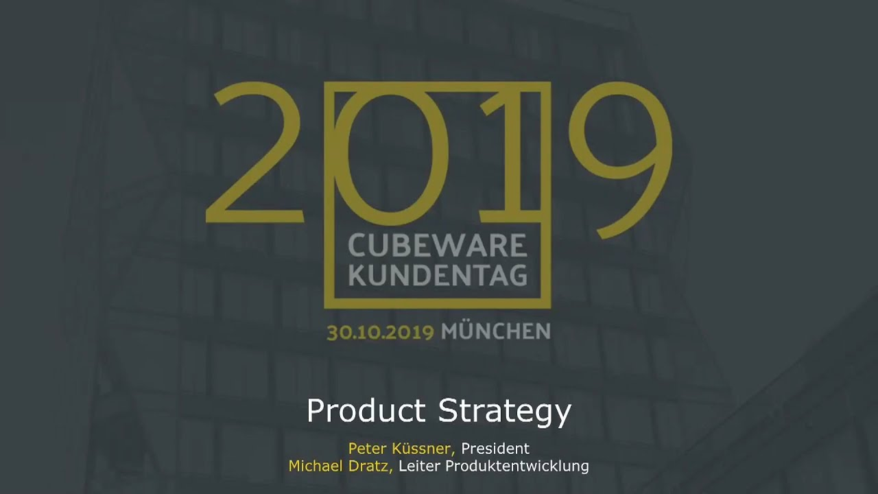 Product Strategy Kundentag 2019