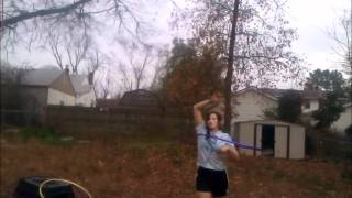 Backyard Hoop Dance 12.2011 (riders on the storm, infected mushroom remix)