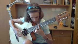 (James Last) The Lonely Shepherd - Alina Vlasova fingerstyle guitar cover