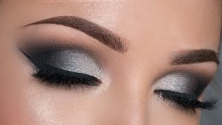 Night Out Makeup Tutorial | Black & Silver Smokey Eye