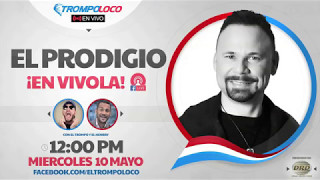 Este miércoles 10 mayo 12:00 m Facebook Live con El Prodigio