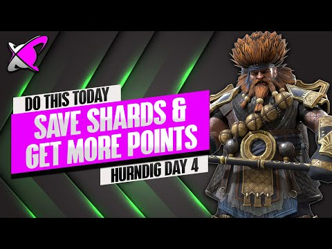 DO THIS TO SAVE SHARDS & GET MORE POINTS !! | Hurndig Day 4 | BGE's Guides | RAID: Shadow Legends