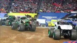 2016 Atlanta Monster Jam Alien Invasion debut duo freestyle with Grave Digger