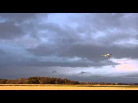 Autumn Dusk Airport Scone Perth Perthshire Scotland