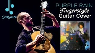 Purple Rain by Prince - Fingerstyle Guitar Cover by Gary Lutton for Jellynote