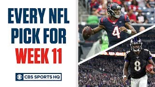 Brady Quinn and Pete Prisco make EVERY WEEK 11 NFL Pick | CBS Sports HQ