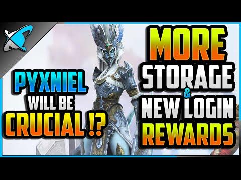 MAJOR UPDATE | More Storage & New Login Rewards!? | Pyxniel Will Be Crucial? | RAID: Shadow Legends