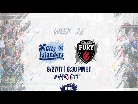 USL LIVE - Harrisburg City Islanders vs Ottawa Fury FC 9/27/17