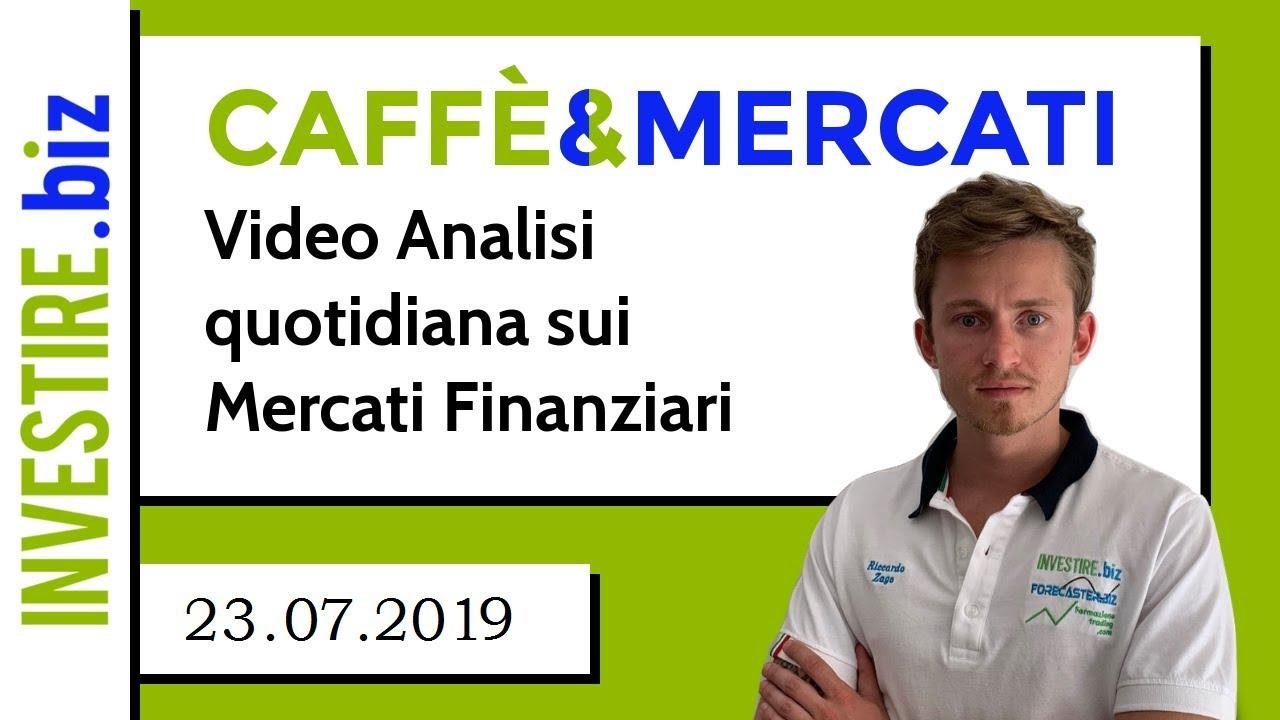 Caffè&Mercati - Sposto lo stop in pareggio su BITCOIN