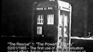 First TARDIS Landing With Sound - The Rescue
