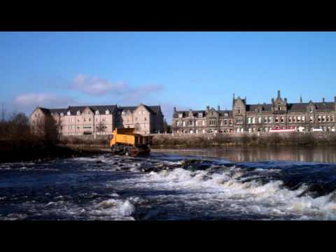 Lorry Truck Crossing River Tay Perth Perthshire Scotland March 22nd